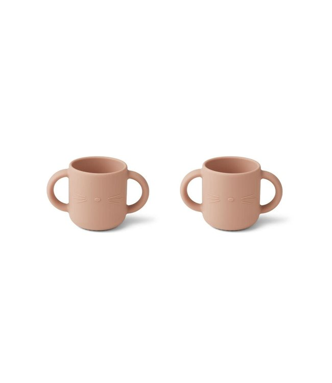 Liewood Gene silicone cup 2-pack - cat rose