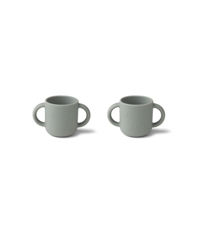 Liewood Gene silicone cup 2-pack -  rabbit dove blue