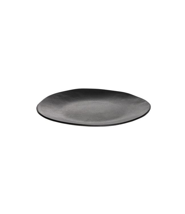 Black gres dinner plate