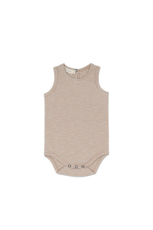 Phil & Phae Sleeveless body stripes - dusty nude stripe