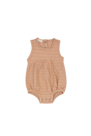 Phil & Phae Bubble onesie tonal stripes - peach dust