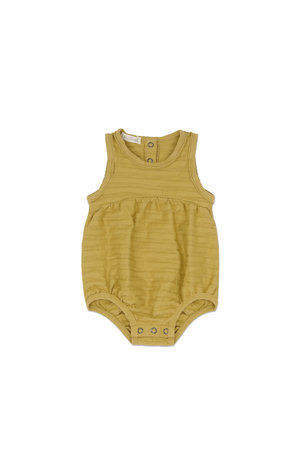Phil & Phae Bubble onesie tonal stripes - avocado