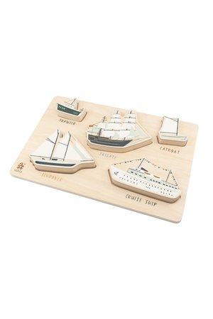 Sebra Wooden chunky puzzle, seven seas
