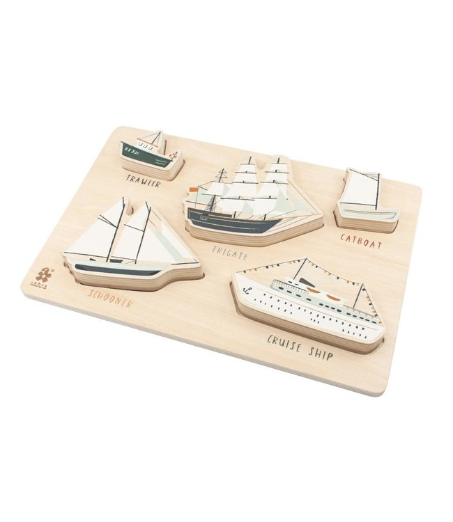 Wooden chunky puzzle, seven seas