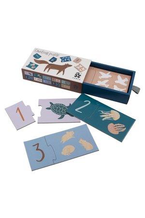 Sebra Counting puzzle 1-10, seven seas/daydream