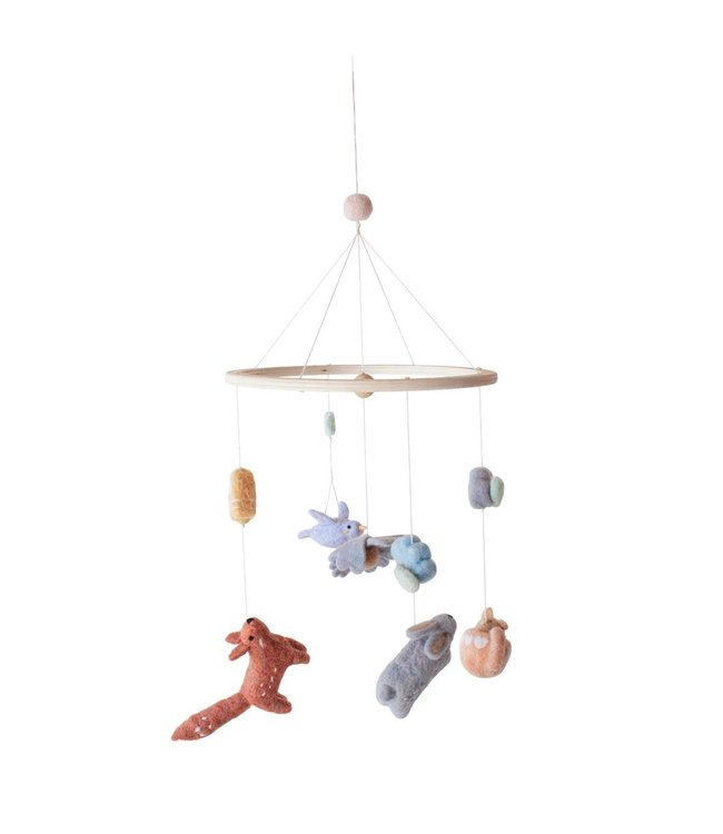 Felted baby mobile, daydream