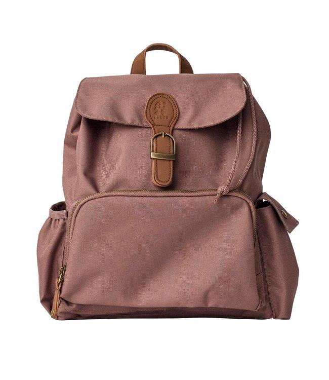 Mini backpack, rustic plum