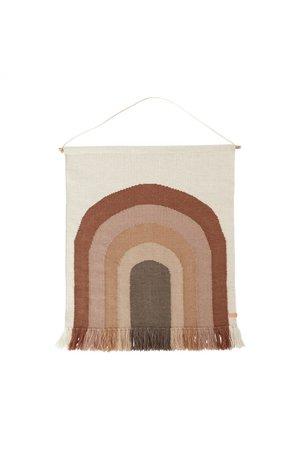OYOY MINI Follow the rainbow - wall rug - choco