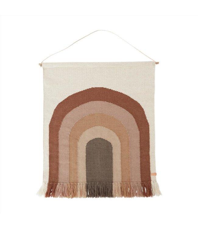 Follow the rainbow - wall rug - choco