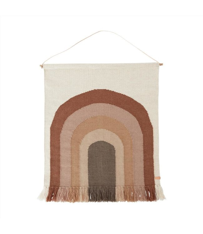 OYOY MINI Follow the rainbow - wall rug - choco