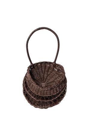 Meri Lou Wall basket 'Emilou' - dark brown