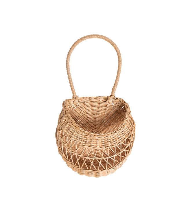 Wall basket 'Emilou' - natural