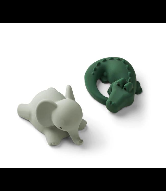 Vikky bath toys 2-pack - Safari green mix