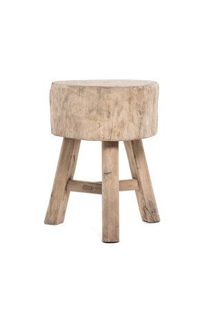 Tree trunk stool, round