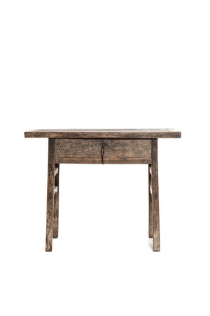 Sidetable patinated elm with 1 drawer