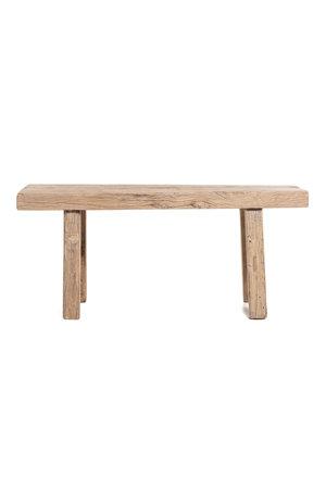Short bench elm wood #10 - 111cm