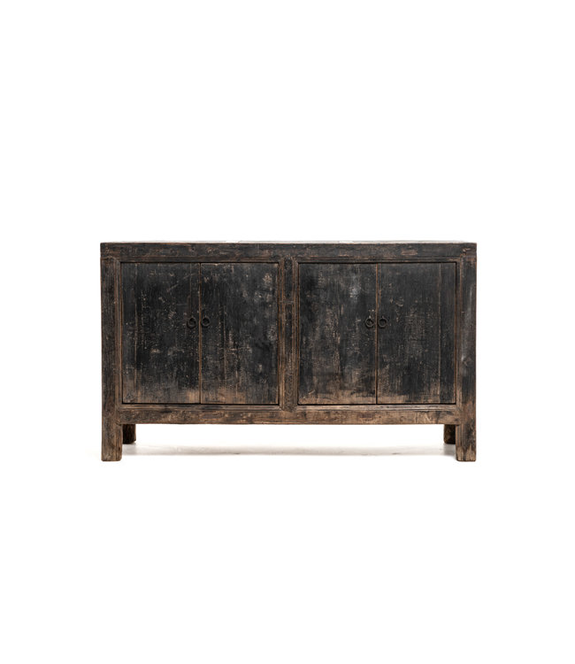Authentic sideboard patinated elm with 4 doors