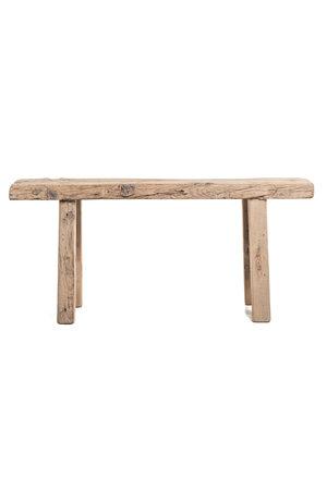 Short bench elm wood #11 - 109cm