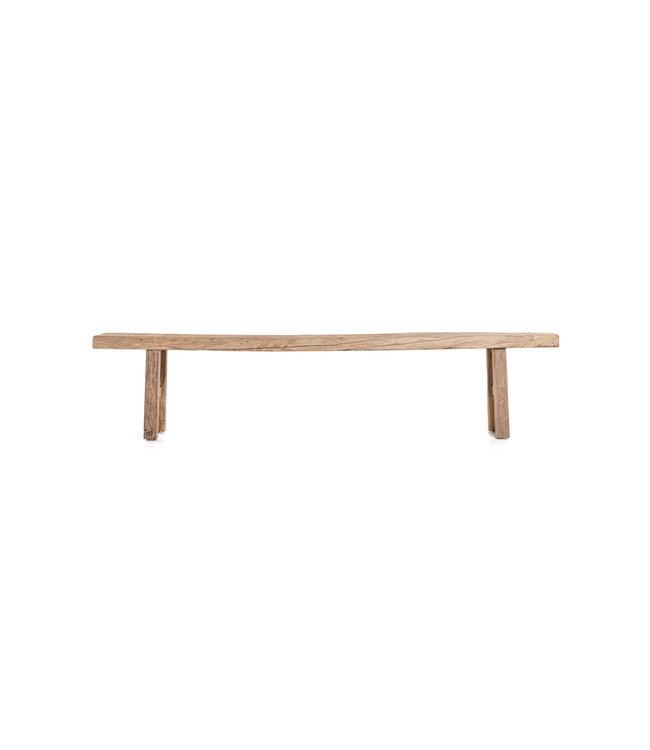 Bench weathered elm wood - 227cm