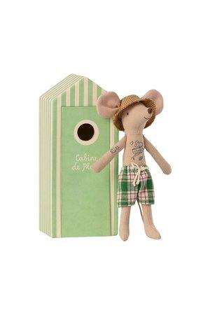 Maileg Beach mice, dad in cabin de plage