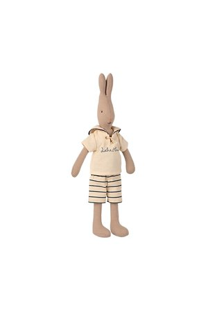 Maileg Rabbit size 2, sailor - off-white/petrol