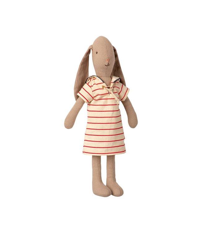Maileg Bunny size 2, striped dress