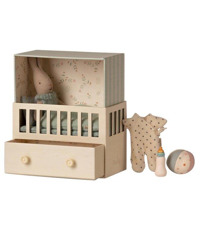 Maileg Baby room w. micro rabbit