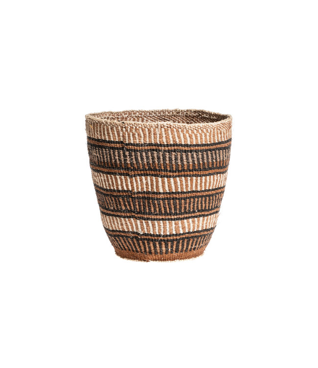 Couleur Locale Sisal mandje Kenia - aardetinten, fine weave #221