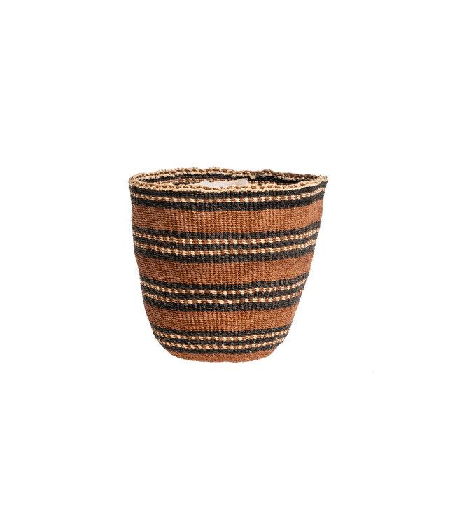 Couleur Locale Sisal mandje Kenia - aardetinten, fine weave #222