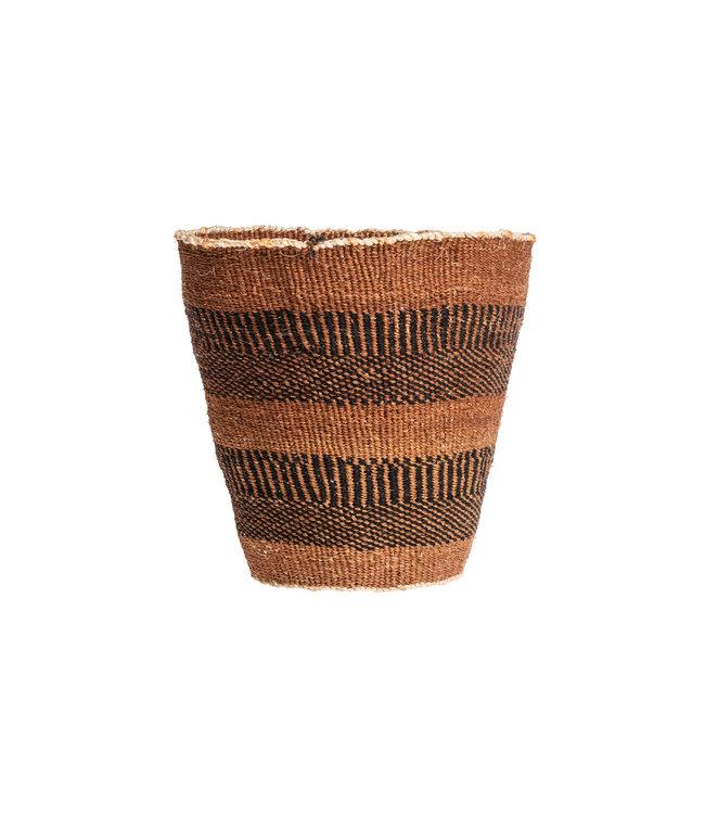 Couleur Locale Sisal mandje Kenia - aardetinten, fine weave #223