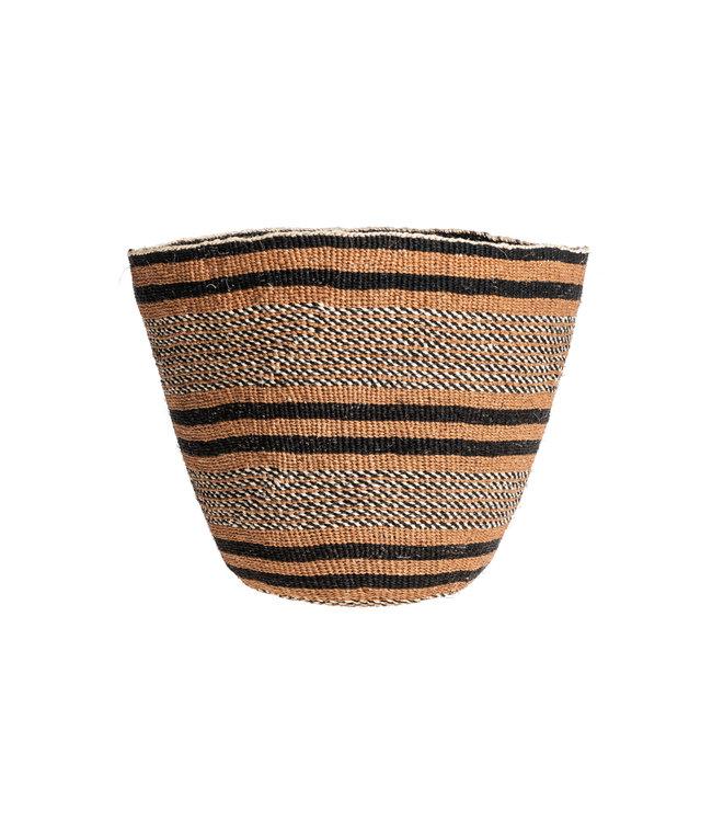 Couleur Locale Sisal mandje Kenia - aardetinten, fine weave #224