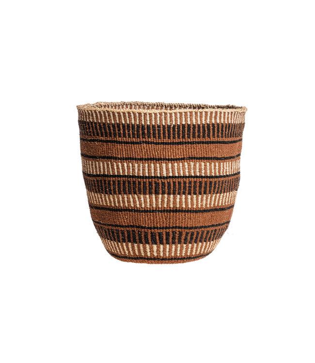Couleur Locale Sisal mandje Kenia - aardetinten, fine weave #225