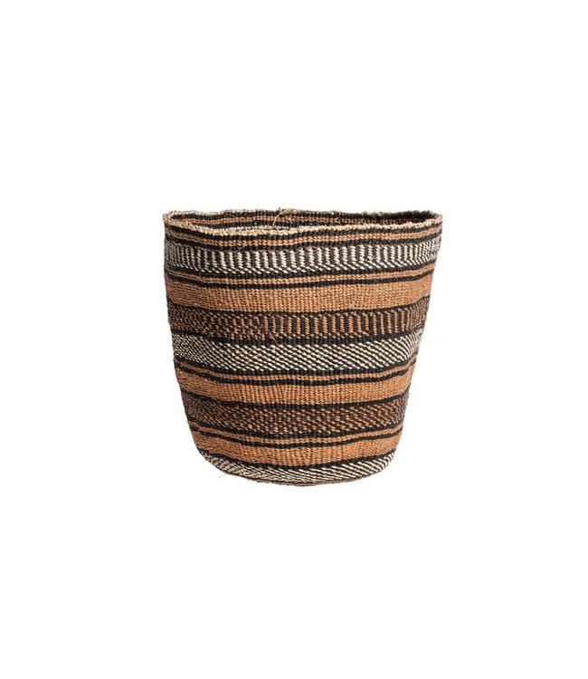 Couleur Locale Sisal mandje Kenia - aardetinten, fine weave #226