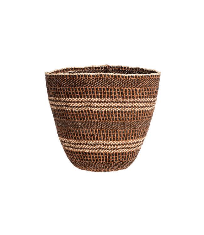 Couleur Locale Sisal mandje Kenia - aardetinten, fine weave  #227