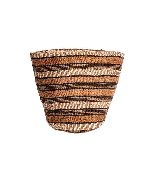 Couleur Locale Sisal mandje Kenia - aardetinten, fine weave #228
