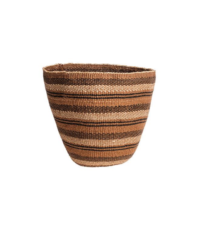 Couleur Locale Sisal mandje Kenia - aardetinten, fine weave #229