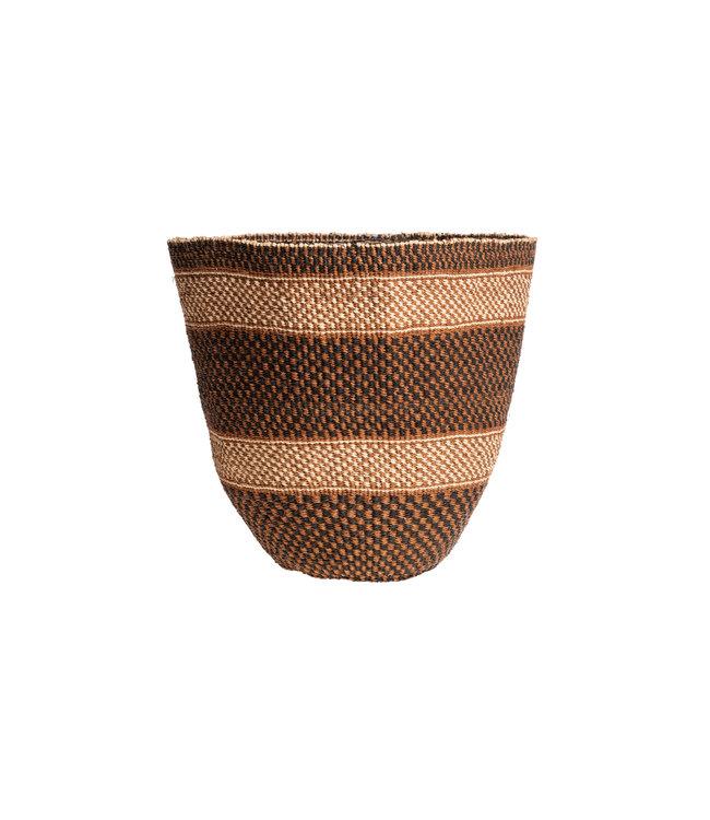 Couleur Locale Sisal basket Kenya - earth colors, fine weave #230