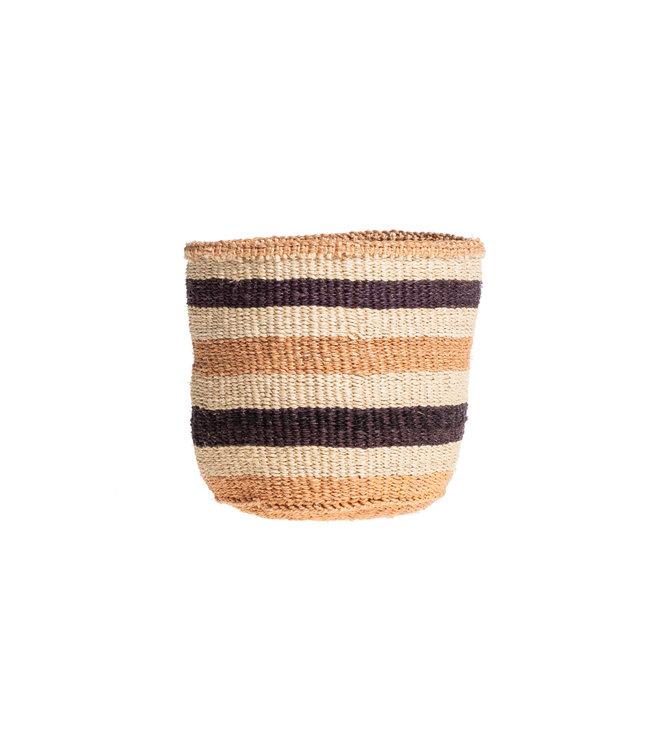 Couleur Locale Sisal mandje Kenia - aardetinten, practical weave #247