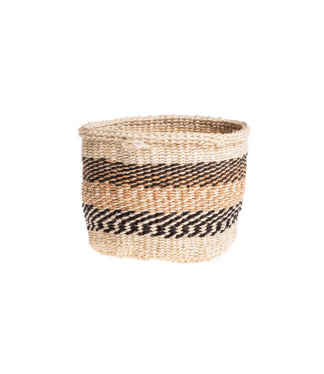 Couleur Locale Sisal mandje Kenia - aardetinten, practical weave #249