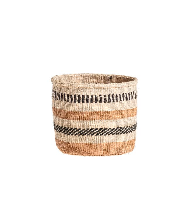 Couleur Locale Sisal mandje Kenia - aardetinten, practical weave #250
