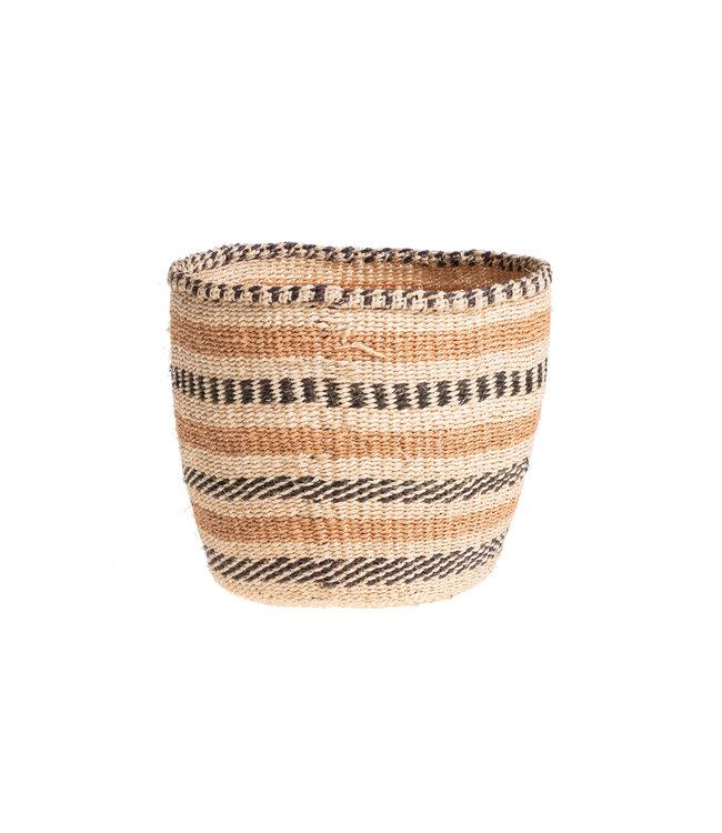 Couleur Locale Sisal mandje Kenia - aardetinten, practical weave #251