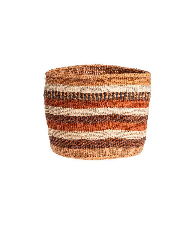 Couleur Locale Sisal mandje Kenia - aardetinten, practical weave #252