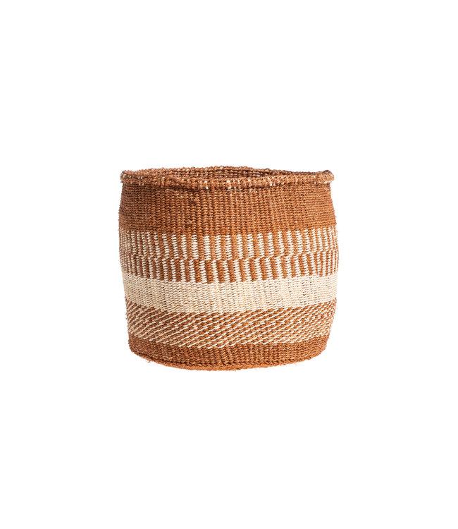 Couleur Locale Sisal mandje Kenia - aardetinten, practical weave  #254