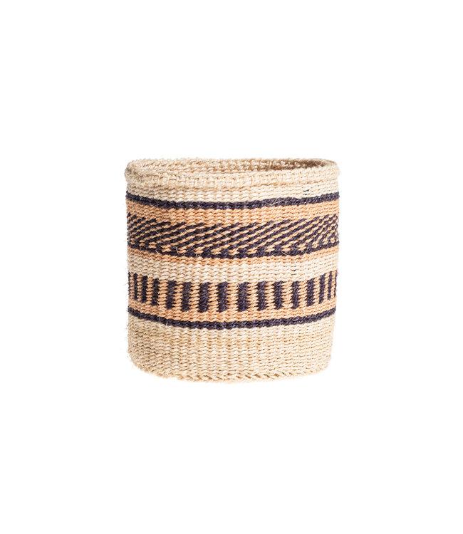 Couleur Locale Sisal mandje Kenia - aardetinten, practical weave #255