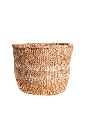 Couleur Locale Sisal basket Kenya - earth colors, practical weave #257
