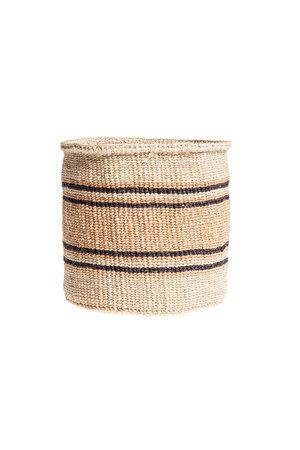 Couleur Locale Sisal basket Kenya - earth colors, practical weave #258