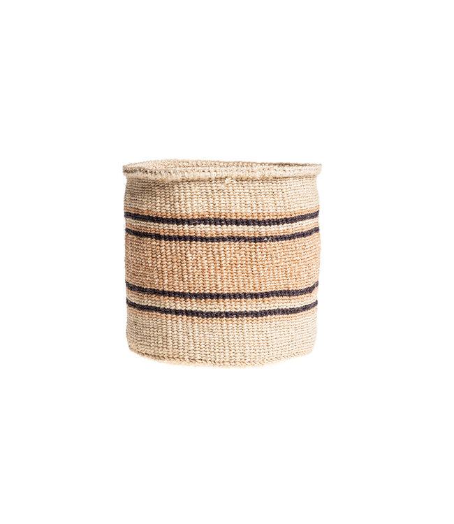Couleur Locale Sisal mandje Kenia - aardetinten, practical weave #258