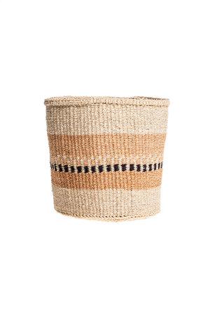 Couleur Locale Sisal basket Kenya - earth colors, practical weave #259