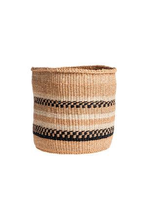 Couleur Locale Sisal basket Kenya - earth colors, practical weave #260