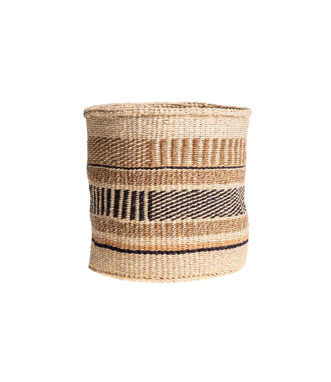 Couleur Locale Sisal mandje Kenia - aardetinten, practical weave #261